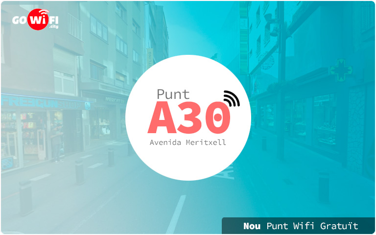 Nou punt wifi gratuït Avenida Meritxell 37.