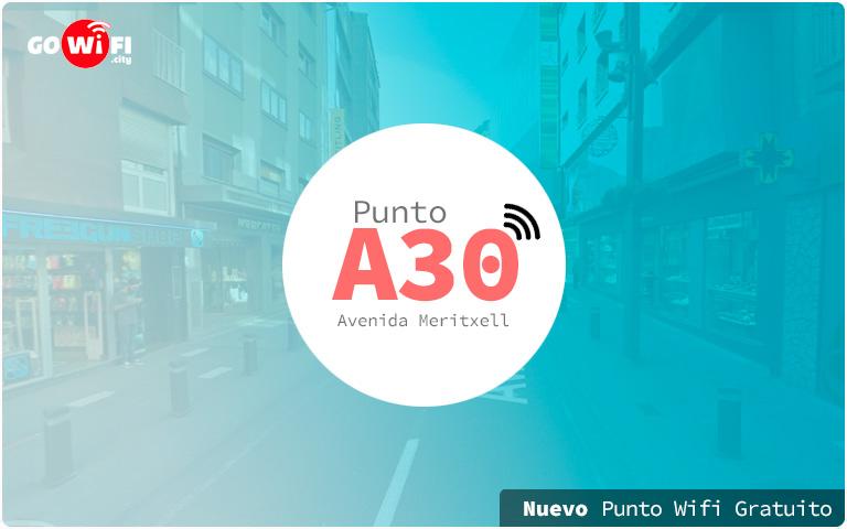 Nuevo punto wifi gratuito Avenida Meritxell 37.